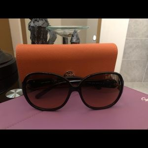 Authentic Tory Burch Sunglasses with case.